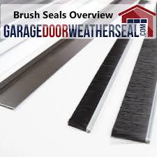 door brush seal brushsmall expert garage weather seals overview