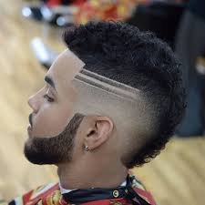 Meilleur Coupe De Cheveux Homme Dégradé Avec Trait Ment L