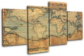 multi canvas wall art best of wall art design ideas brown simple vintage world map wall