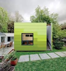 backyard office pod. Urban Modz   - Not A Container But Great Cladding On This Backyard Office Pod Complete With Top Deck L
