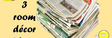 3 diy ideas super easy newspaper wall hanging newspaper crafts for home decoration easy diy craft ideas for everyone