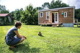 land for tiny house. Free-wheeling: Most Tiny Homes Have The Door On Gable End, But Land For House E