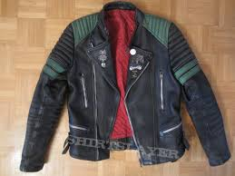 original moto cuir leather jacket with metal pins and ons