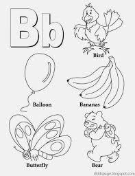 Kids Page: Letter B   Alphabet Letters Printable Worksheet for Kids
