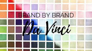 Brand By Brand Da Vinci Watercolor Palette Series