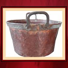 vintage copper wood holder bucket norths fireplace