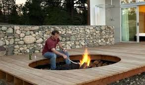 Outdoor Fire Pit Kits Stone Propane