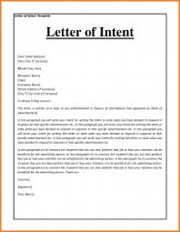 job letter letter of intent for a job template business