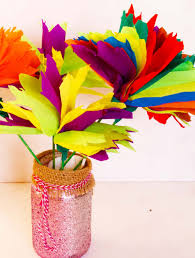 Tissue Paper Flower Ideas Easy Tissue Paper Flowers Craft For Kids With Video Tutorial
