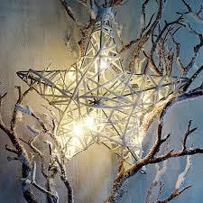 Leuchtstern Weihnachtsstern Deko Stern Beleuchtet 20cm Weihnachten Led Batterie