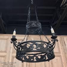 antique cast iron chandelier