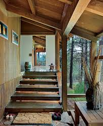 Traditional Japanese House Design with Stunning Forest Home Design