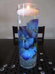 royal blue wedding centerpieces | Related For Blue And Silver Wedding  Centerpieces