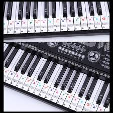 61 Key Keyboard Note Chart Us 1 7 26 Off Hot 88 61 Key Color Piano Letter Notes Stickers Keyboard Hand Roll Piano Keyboard Transparent Stickers Notation Transparent In Piano