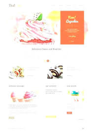 Cupcake Website Template Bakery Free Cake Business Templates 7 T