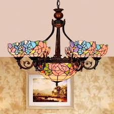 antique stained glass chandelier chandeliers for bedroom p
