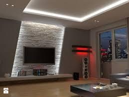 living room tv wall decorating ideas unique salon w odcieniach beżu zdjÄ cie od linda