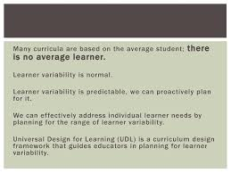 Learner Variability And Universal Design For Learning Universal Design For Learning Optimizing Through The Systems