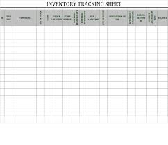 Inventory Sheet Template: 40+ Ready To Use Excel Sheets For ...
