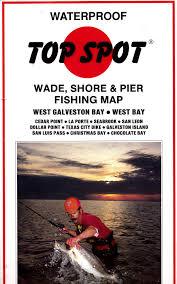 Waterproof Top Spot Wade Shore Pier Fishing Map West