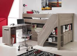 Loft Bed With Desk And Stairs For Teens