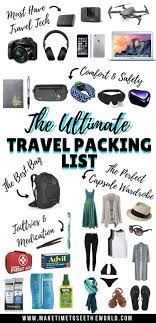 Packing Lists The Ultimate Travel Packing List