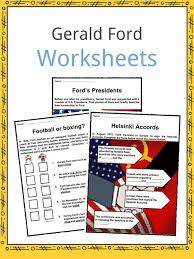 Gerald Ford Facts, Worksheets & Political History For Kids
