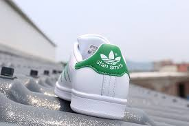 adidas stan smith white green leather shoes for men