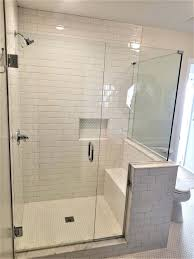 frameless shower shower with u channel and no header frameless bypass shower door hardware