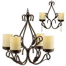 charleston chandelier flameless candle holders