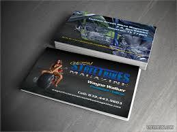 business card custom street bikes magazine