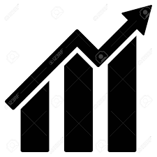 White Growth Chart Growth Chart Icon Vector Style Is Flat Iconic Symbol With Rounded