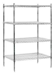 stationary wire shelving in chrome finish id 3255385