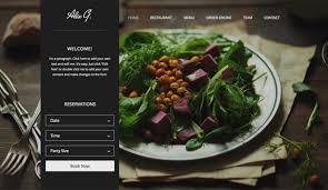 Restaurant Website Templates Classy Restaurants Food Website Templates Wix