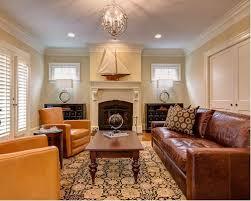 leather furniture living room designs