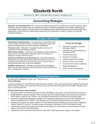 Accounting Manager Resume Template New Accounts Manager Resume