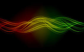 Green Abstract Red Multicolor Yellow Waves Digital Art Lines