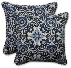 pillow perfect indoor outdoor woodblock prism blue throw pillow 18 5