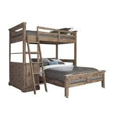 Bryon Twin Over Full LShaped Bunk Bed With 4 Drawer Chest And Lower