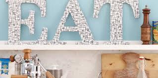 Déco De Cuisine Facile Des Lettres En Bois Femme Actuelle Le Mag