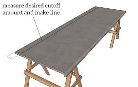measure cutting line on laminate countertop