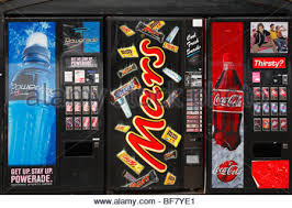 Vending Machine Candy Bars Extraordinary Vending Machines Offering Sugary Snacks At Milan Italy's Cadorna