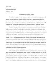 hamlet essay madison steele world foundations  3 pages hamlet essay