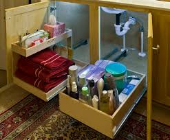 Under The Kitchen Sink Storage Under The Kitchen Sink Organizer Home Design Ideas