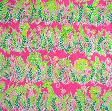 Lilly Pulitzer Fabric Lilly Pulitzer Fabric Cotton Pique Fabric Millionaires Row 1