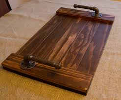 serving tray with pipe handles