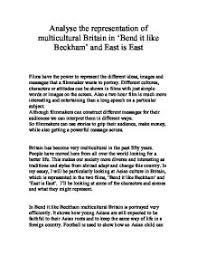 analyse the representation of multicultural britain in bend it page 1 zoom in