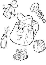 Dora The Explorer Coloring Book The Explorer Coloring Coloring Pages