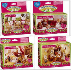 Calico Critters Country Furniture 4 Sets Bedroom, Patio, Dining U0026 Living  Rooms
