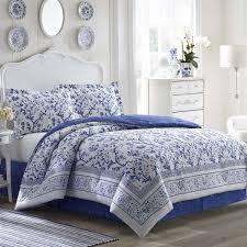 laura ashley bedding set quilt set ideas blue white colors